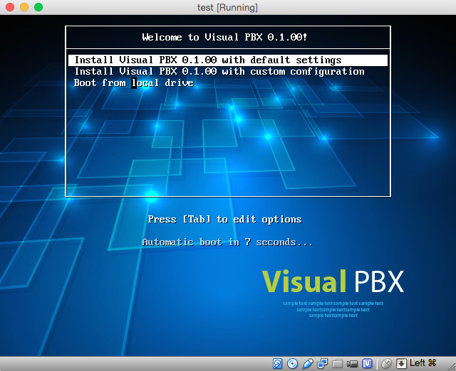 VisualPBX installation